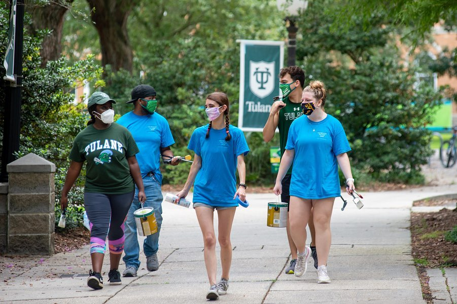 Tulane staff and students participate in Outreach Tulane 2020.