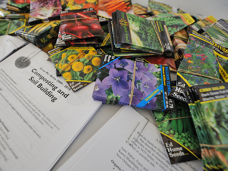 Seed packets and Gardening information